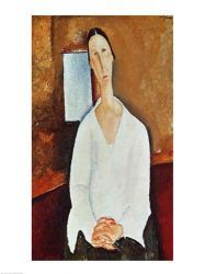 Madame Zborowska with Clasped Hands, c.1917 | Obraz na stenu