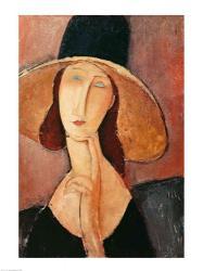 Portrait of Jeanne Hebuterne in a large hat, c.1918-19 | Obraz na stenu