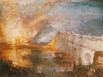 Burning of the Houses of Parliament | Obraz na stenu