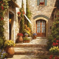 Sunlit Courtyard | Obraz na stenu