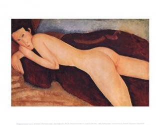 Reclining Nude from the Back, c.1917 | Obraz na stenu