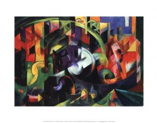 Abstract with Cattle | Obraz na stenu