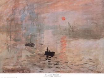 Impression, Sunrise, c.1872 (green) | Obraz na stenu