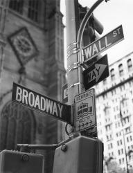 Broadway and Wall Street | Obraz na stenu