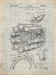 Aircraft Propulsion & Power Unit Patent - Antique Grid Parchment | Obraz na stenu