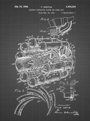 Aircraft Propulsion & Power Unit Patent - Black Grid   Obraz na stenu