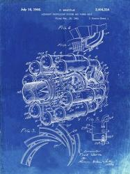 Aircraft Propulsion & Power Unit Patent - Faded Blueprint | Obraz na stenu