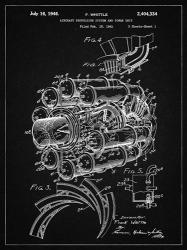 Aircraft Propulsion & Power Unit Patent - Vintage Black | Obraz na stenu