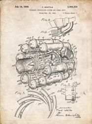 Aircraft Propulsion & Power Unit Patent - Vintage Parchment | Obraz na stenu