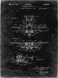 Amphibian Aircraft Patent - Black Grunge | Obraz na stenu