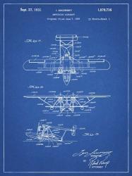 Amphibian Aircraft Patent - Blueprint | Obraz na stenu