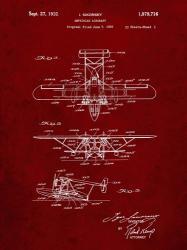 Amphibian Aircraft Patent - Burgundy | Obraz na stenu