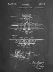 Amphibian Aircraft Patent - Chalkboard | Obraz na stenu