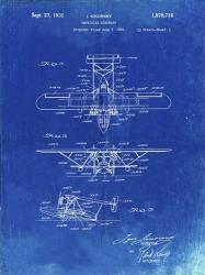 Amphibian Aircraft Patent - Faded Blueprint   Obraz na stenu