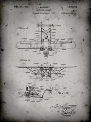 Amphibian Aircraft Patent - Faded Grey | Obraz na stenu