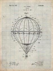 Balloon Patent - Antique Grid Parchment | Obraz na stenu