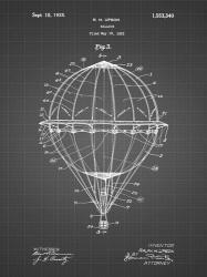 Balloon Patent - Black Grid | Obraz na stenu