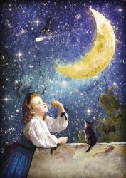 One Wish Upon the Moon | Obraz na stenu