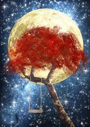 Swing Under a Golden Moonlight | Obraz na stenu
