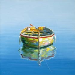 1 Boat Blue | Obraz na stenu