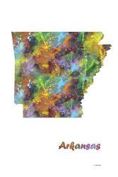 Arkansas State Map 1 | Obraz na stenu