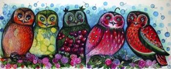 5 Owls | Obraz na stenu