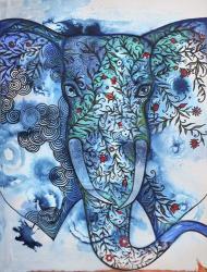Blue Elephant | Obraz na stenu