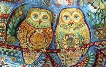 Byzantine Owls | Obraz na stenu