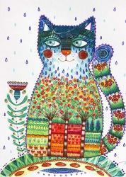 1 Rain Cat | Obraz na stenu