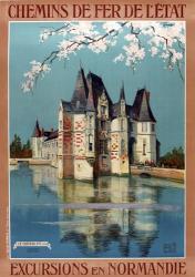 1922 Excursions Normandie | Obraz na stenu
