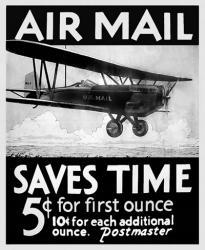 Airmail Saves Time   Obraz na stenu