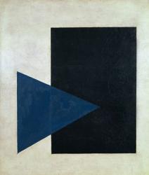 Black Square, Blue Triangle, 1915   Obraz na stenu