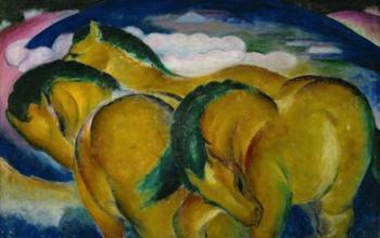 The Small Yellow Horses, 1912 | Obraz na stenu