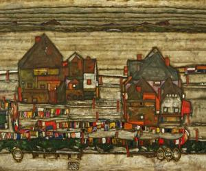 Houses With Colorful Laundry, 1914 | Obraz na stenu