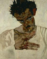 Egon Schiele  Self-Portrait With Bent Head, 1912 | Obraz na stenu
