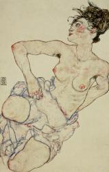 Kneeling Female Semi-Nude, 1917 | Obraz na stenu