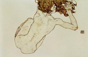 Crouching Nude | Obraz na stenu
