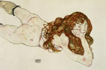 Female Nude On Her Stomach, 1917 | Obraz na stenu