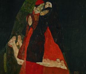 Cardinal And Nun (Liebkosung), 1912 | Obraz na stenu