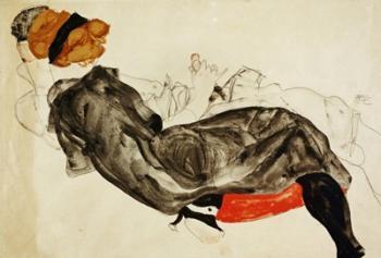 Couple (Liebespaar), 1912 | Obraz na stenu
