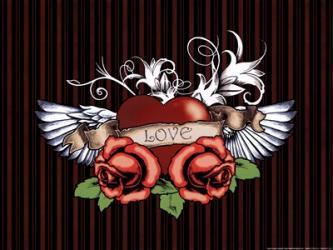 Love Tattoo   Obraz na stenu