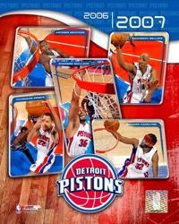 '06 / '07 Pistons Team Composite | Obraz na stenu