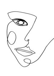 Face Line 2 | Obraz na stenu
