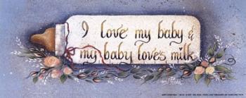 Baby Loves Milk | Obraz na stenu