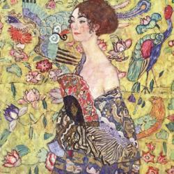 Lady with Fan | Obraz na stenu
