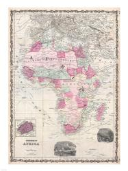 1862 Johnson Map of Africa | Obraz na stenu
