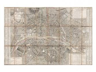 1797 Jean Map of Paris and the Faubourgs, France | Obraz na stenu