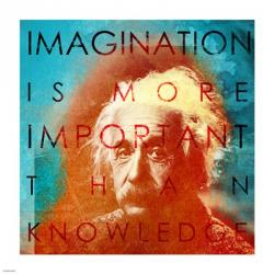 Einstein – Imagination Quote | Obraz na stenu