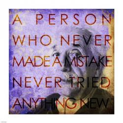 Einstein – Never Made a Mistake Quote | Obraz na stenu
