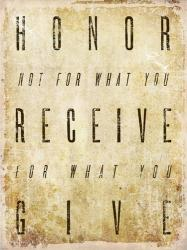 Honor Quote | Obraz na stenu